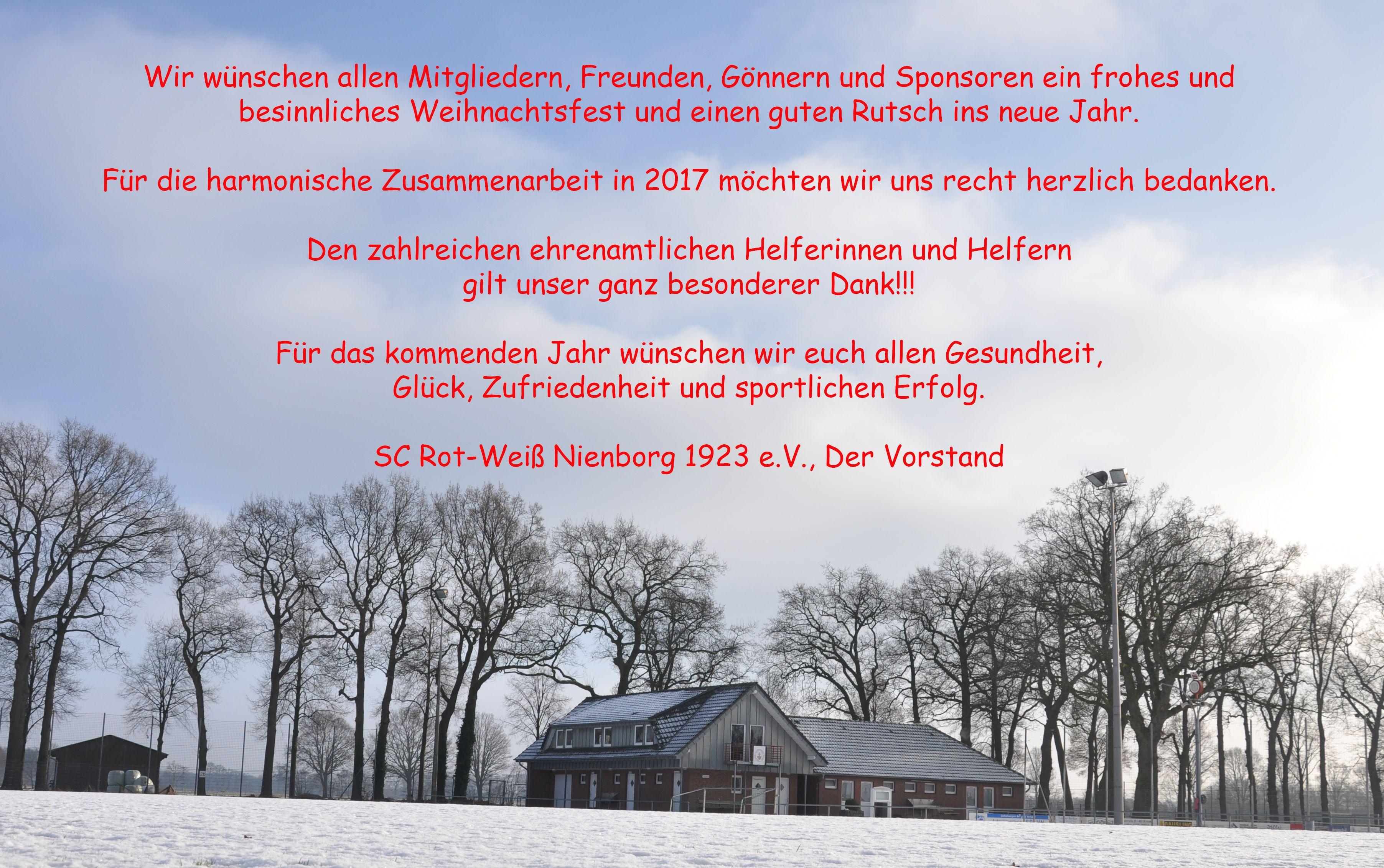 Frohe Weihnachten und einen guten Rutsch ins neue Jahr – SC Rot-Weiß ...