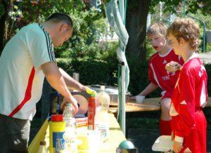 Matthias Alfert macht Frühstück